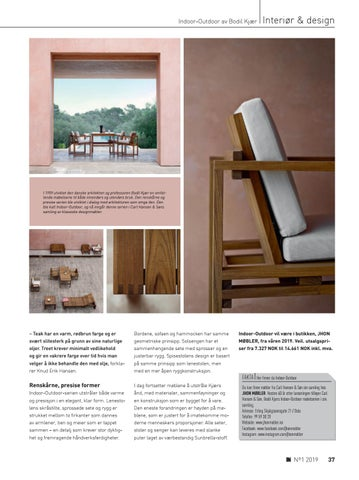 Page 37 of Bodil Kjær – Harmoni  mellom design & arkitektur