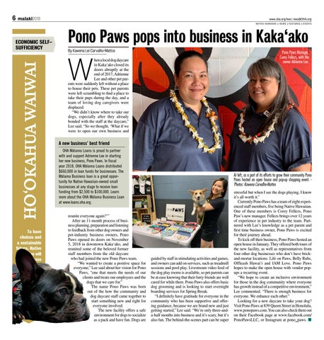 Page 6 of Pono Paws pops into business in Kaka'ako