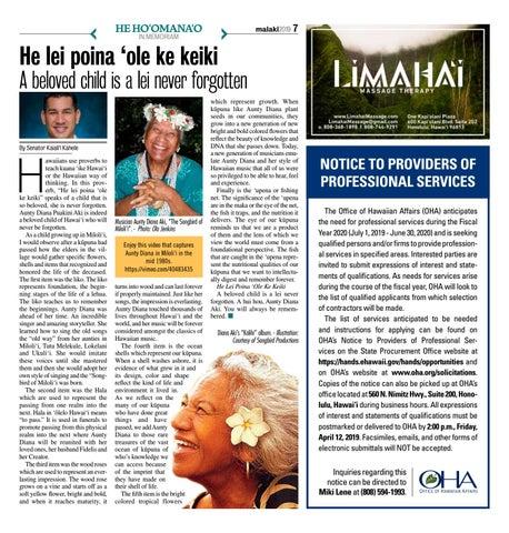 Page 7 of He Lei Poina 'Ole Ke Keiki