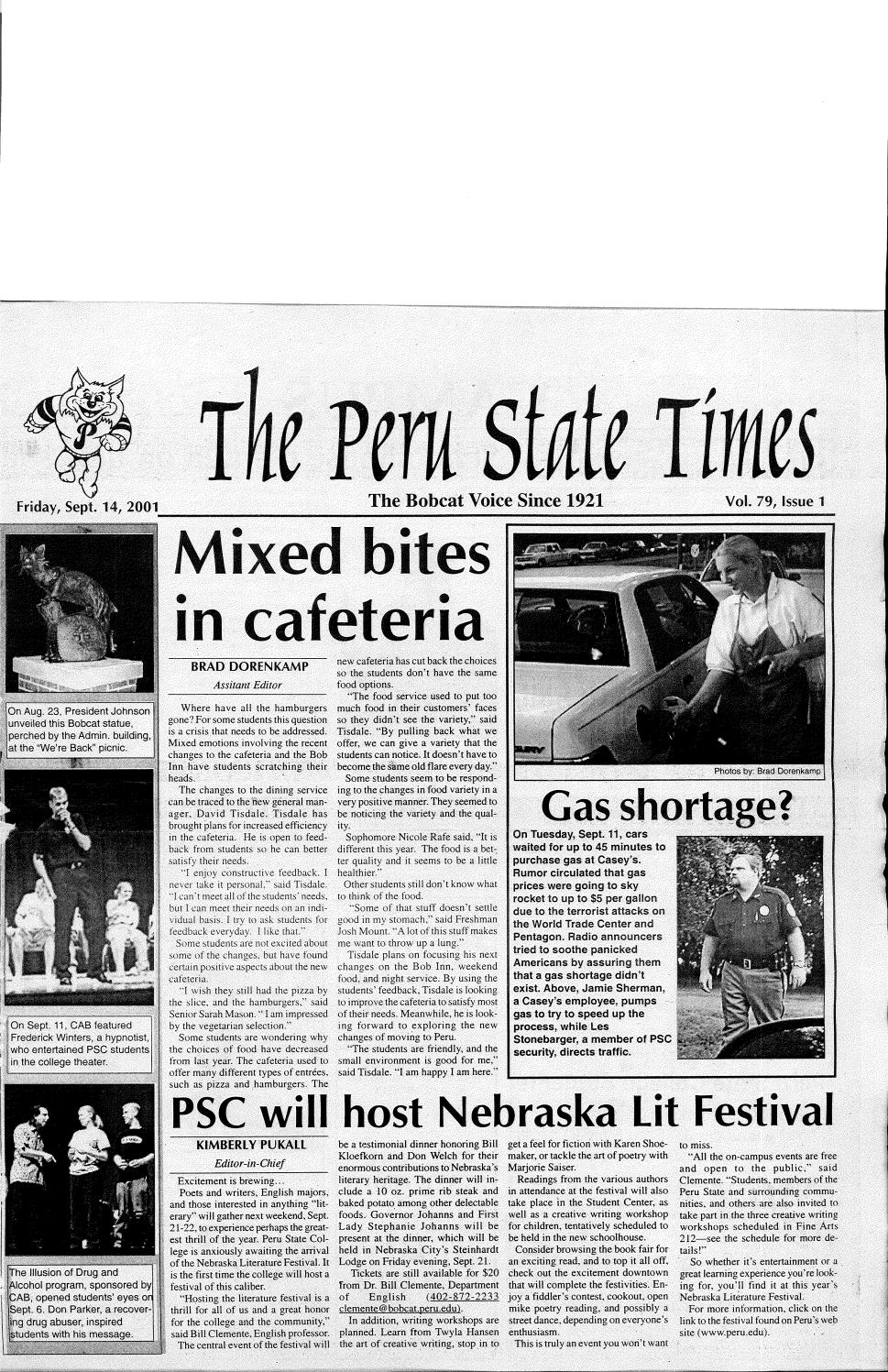 2001-2002 The Times (Peru, NE) - issues 1-12 by Peru State