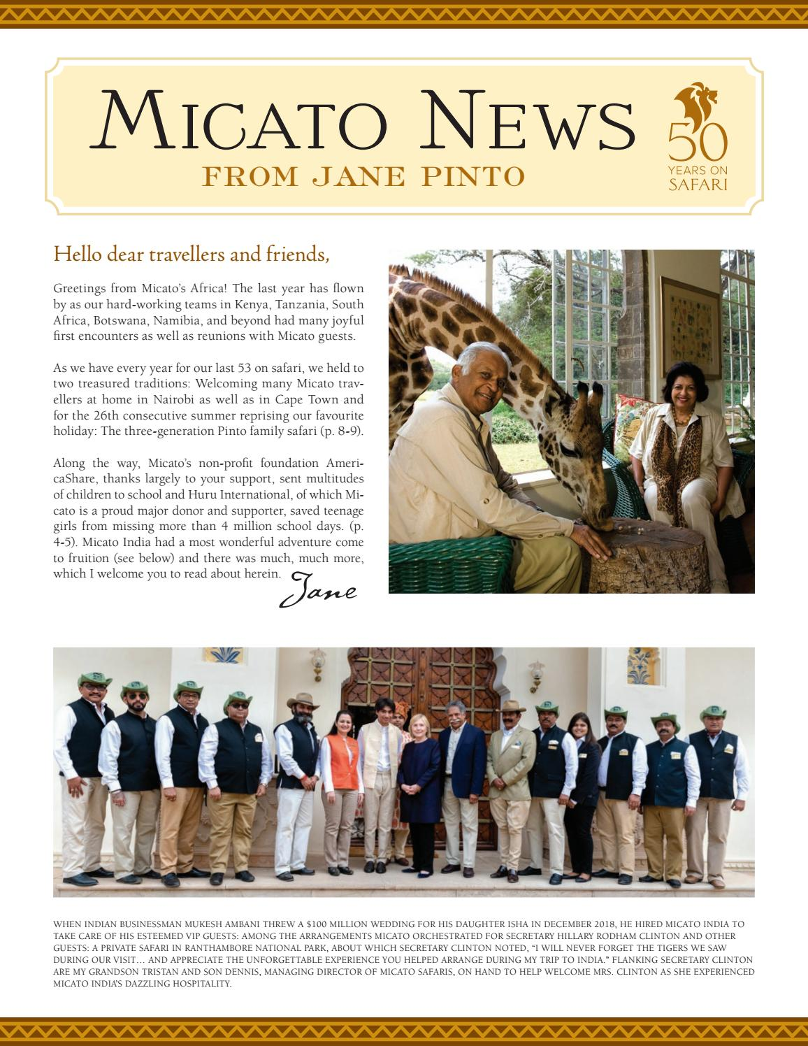 Micato News from Jane Pinto by micato safaris1 - issuu