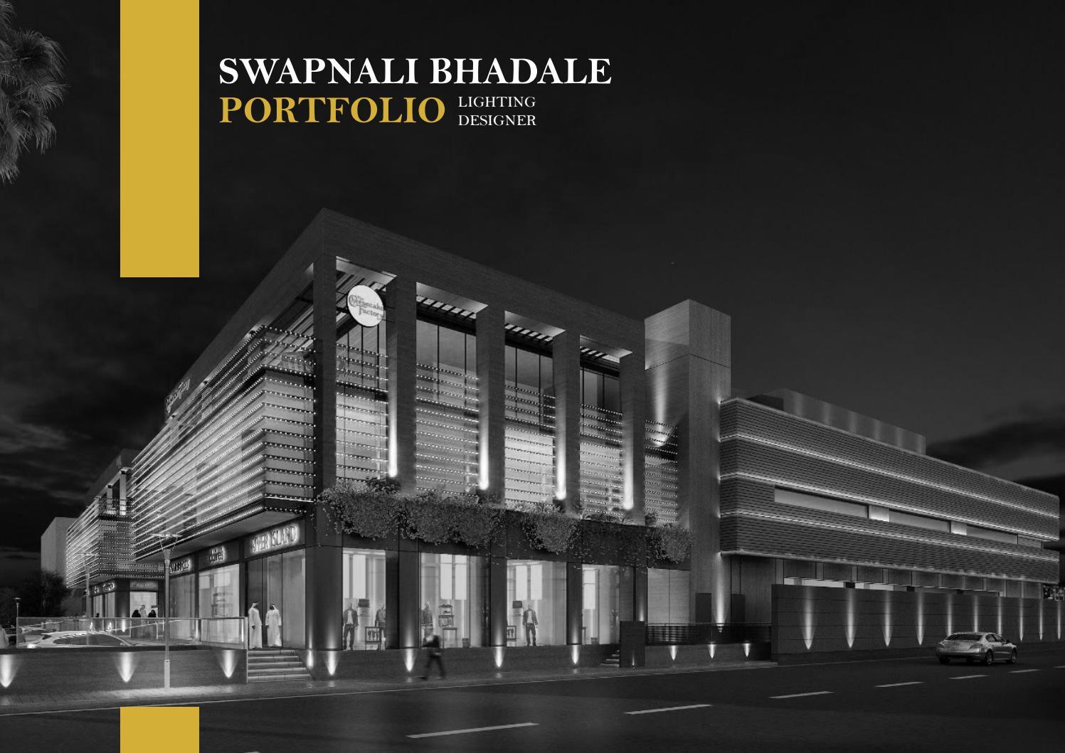 Lighting Design Portfolio 2019 By Swapnali Bhadale Issuu