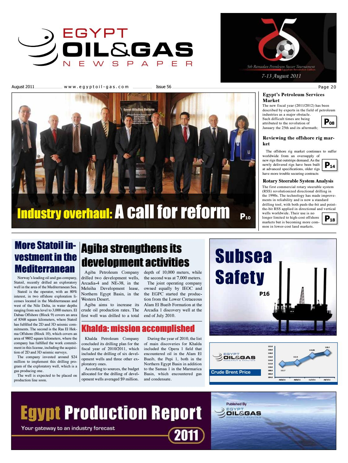 EOG Newspaper August 2011 Issue by Egypt Oil & Gas - issuu