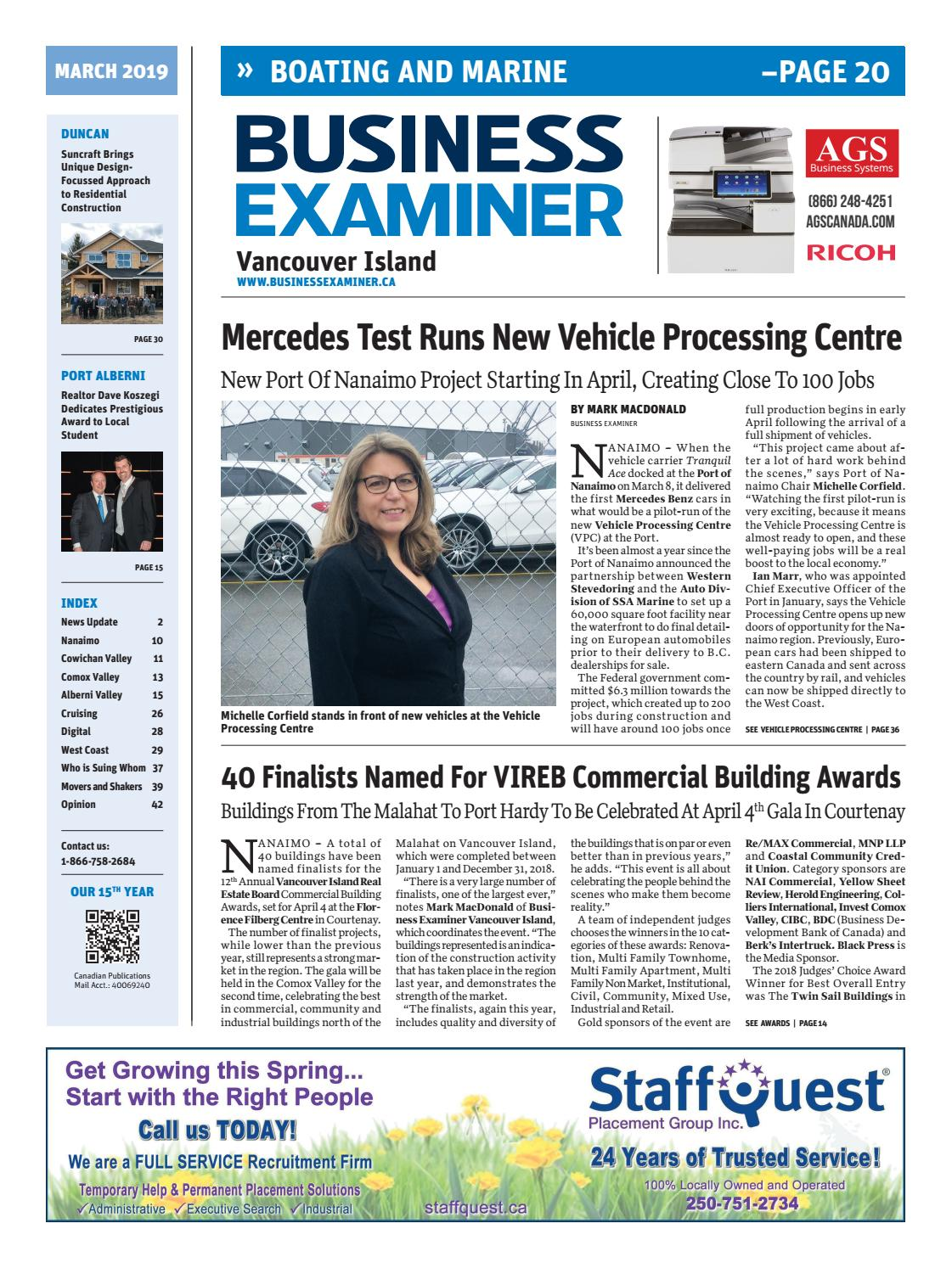 Business Examiner Vancouver Island - March 2019 by Business