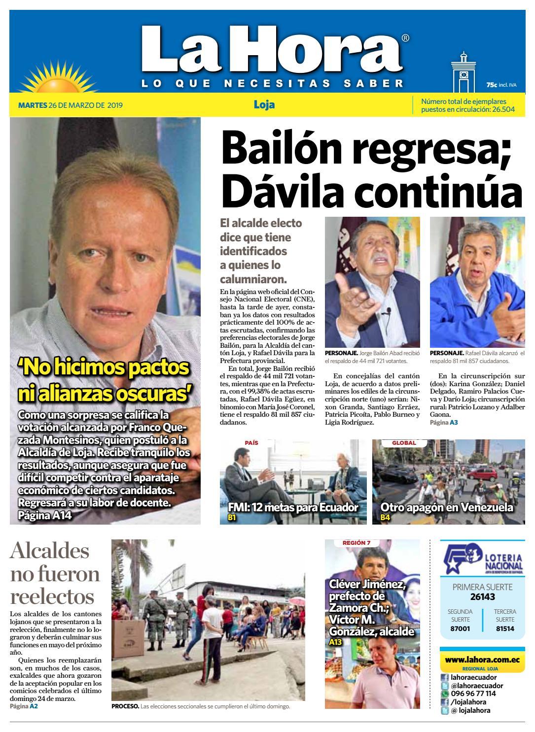 6179cde0 Diario La Hora Loja 26 de Marzo 2019 by Diario La Hora Ecuador - issuu