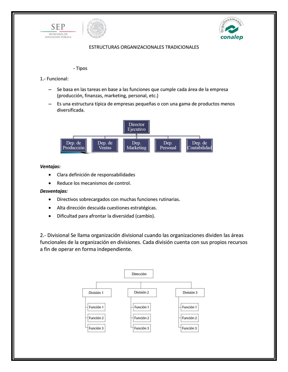 Estructuras Organizacionales Tradicionales By Cristina
