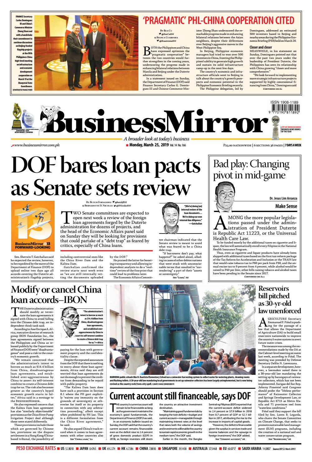 BusinessMirror March 25, 2019 by BusinessMirror - issuu