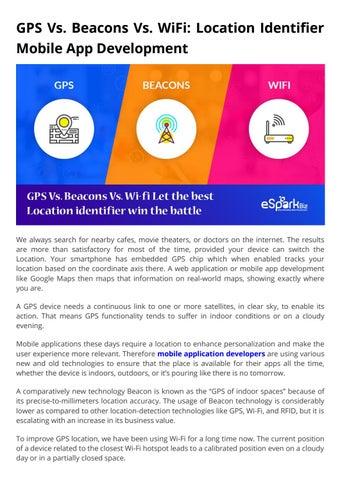 GPS Vs. Beacons Vs. WiFi by eSparkBiz - issuu Do You Need Internet To Use Google Maps on