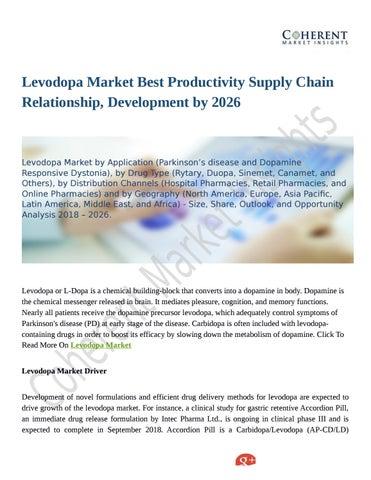 Levodopa Market Upcoming Trends, Demand and Analysis Till