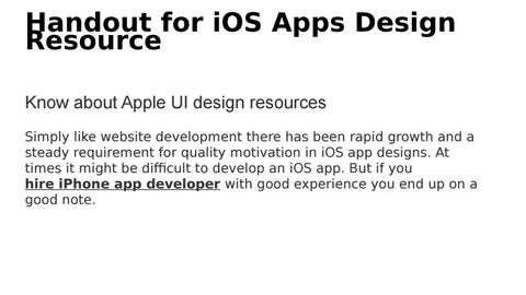 Handout for iOS Apps Design Resource by Concetto Labs - issuu