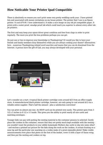 How Noticable Your Printer Ipad Compatible by onegadgetgreat - issuu