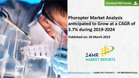 883a39dd857 Phoropter Market Analysis anticipated to Grow at a CAGR of 3.7% during  2019-2024