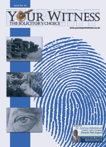 The Retrospective Testimony Rule >> Your Expert Witness Issue No 48 By Dmmonline Issuu