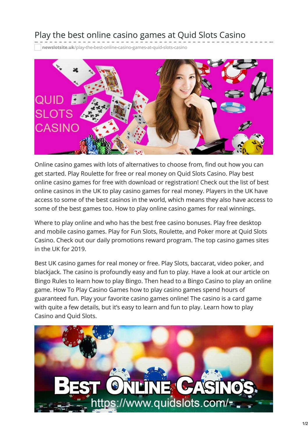 Free Online Casino Games Play For Fun