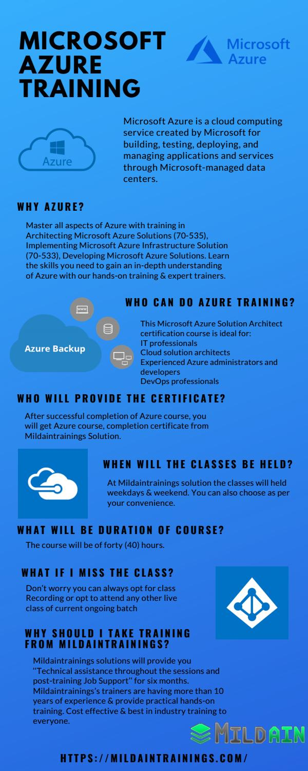 Microsoft Azure Training by mildaintrainings - issuu