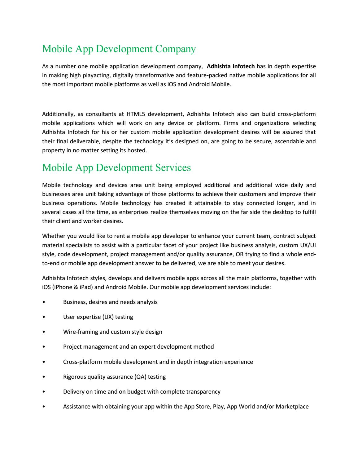 Mobile App Development Company in Hyderabad by Webdesign Web