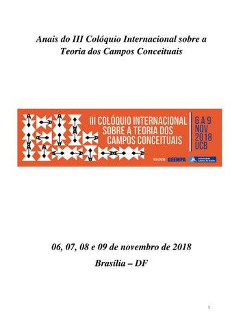 III Colóquio Internacional sobre a Teoria dos Campos Conceituais by