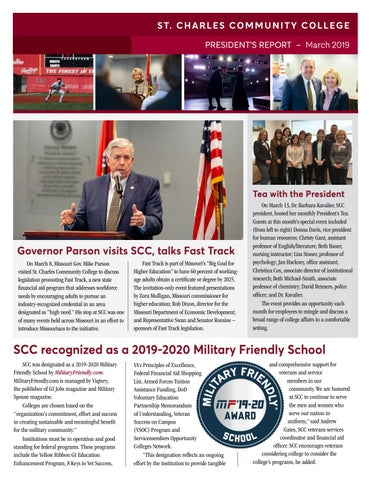 Scc Fall 2020.President S Report To The Board March 2019 By St Charles