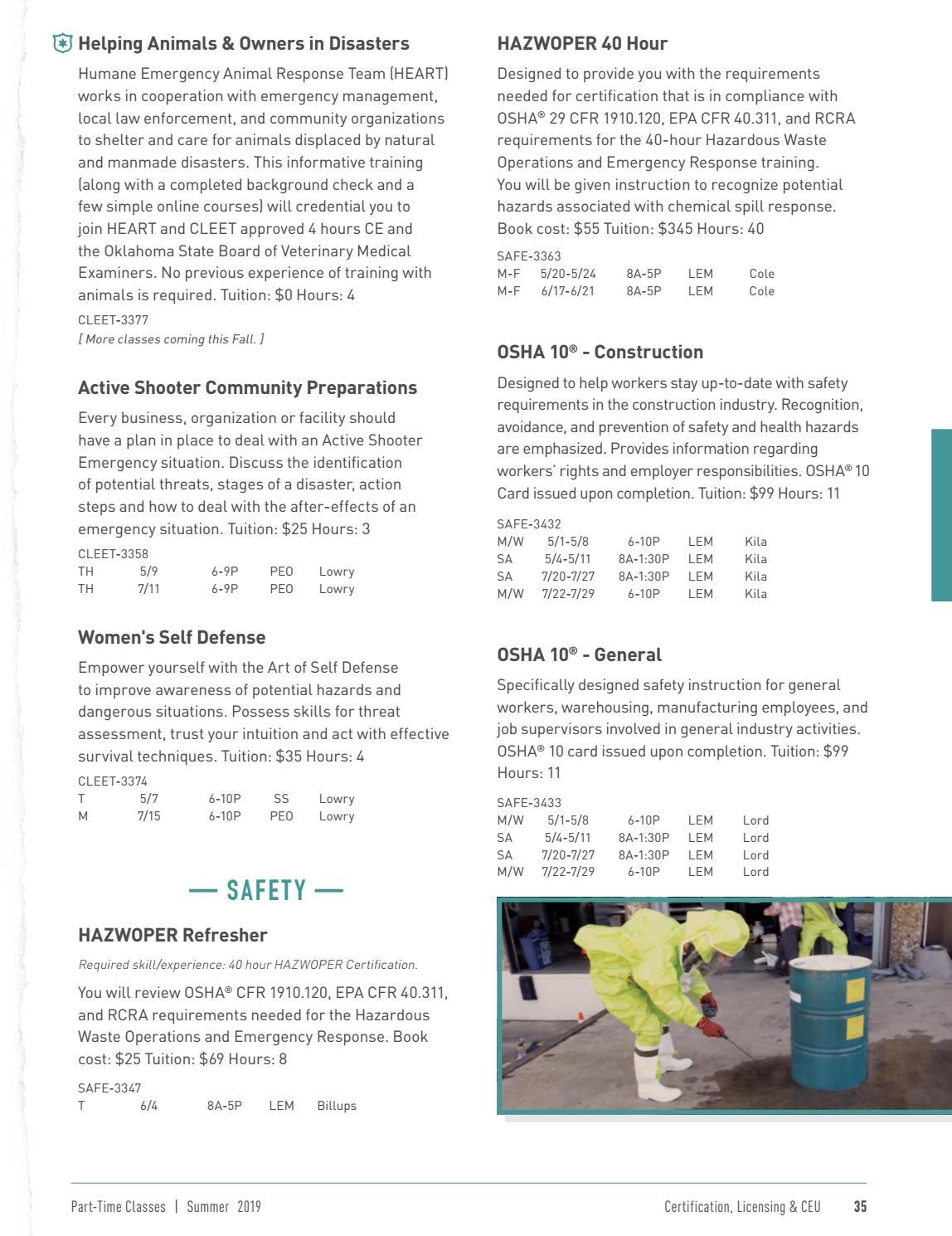 Part-Time Class Catalog - Summer 2019 by Tulsa Tech - issuu