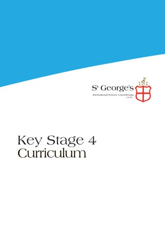 Key Stage 4 Guide by St George's Communications - issuu