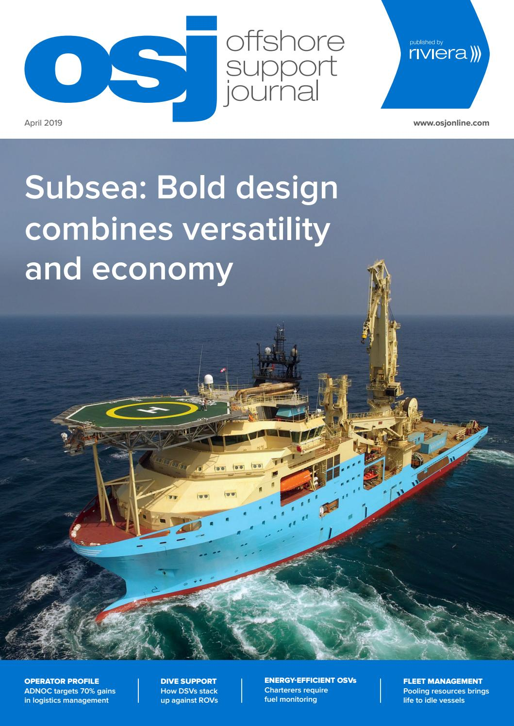 Offshore Support Journal April 2019 by rivieramaritimemedia