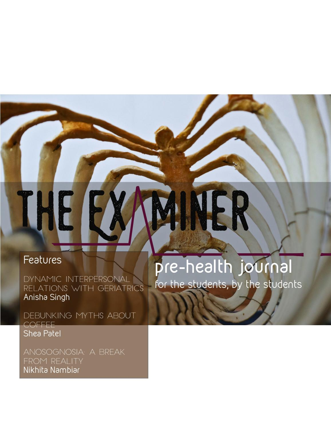 Examiner 2018 Spring By The Examiner Rutgers Pre Health Journal Issuu