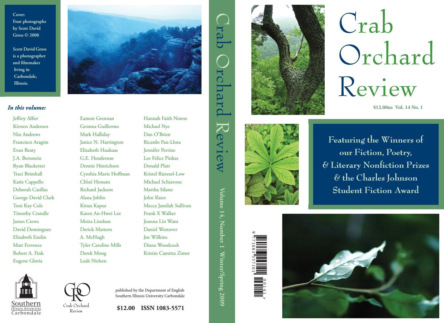 17040625e8bb Crab Orchard Review Vol 14 No 1 W S 2009 by Crab Orchard Review - issuu