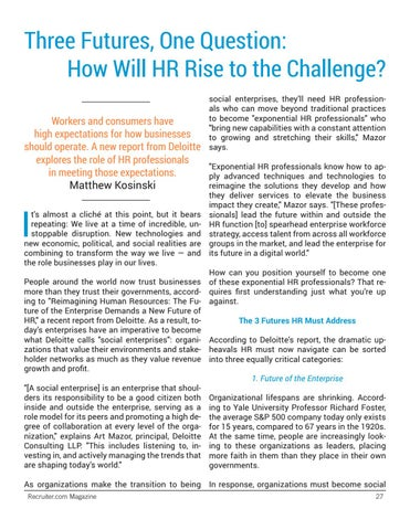 Page 27 of How HR Can Rise to the Challenge of Digital Transformation