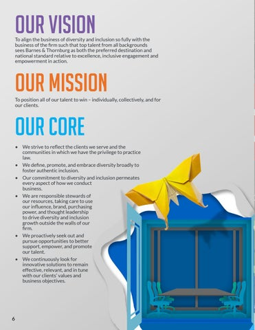 Page 6 of Our Vision, Mission and Core