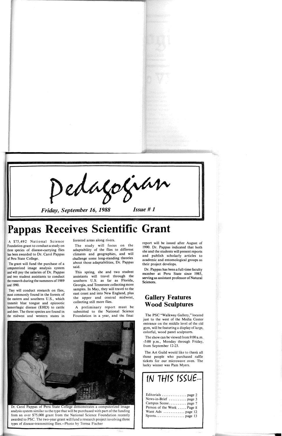 a3703f48 1988-1989 Peru Pedagogian - issues 1-13 by Peru State College Library -  issuu