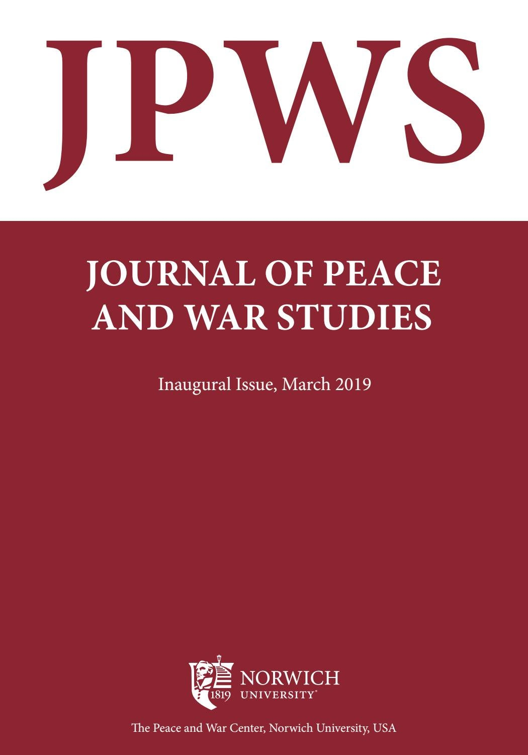 JOURNAL OF PEACE AND WAR STUDIES | March 2019 by Norwich