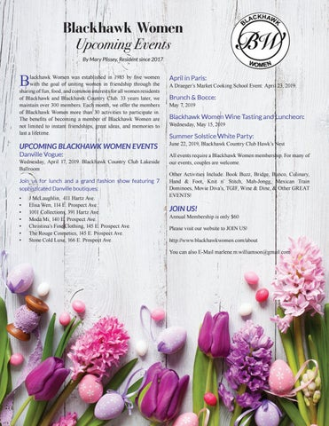 Page 22 of Blackhawk Women - Upcoming Events