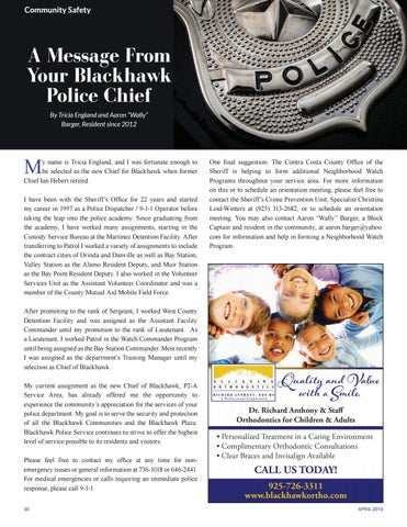 Page 30 of A Message From Your Blackhawk Police Chief
