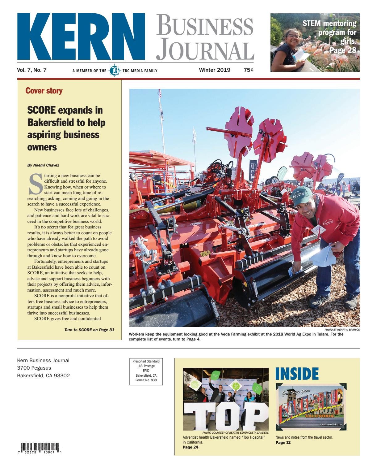 Kern Business Journal Winter 2019 by The Bakersfield