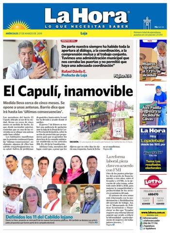 8e71c481 Diario La Hora Loja 27 de Marzo 2019 by Diario La Hora Ecuador - issuu