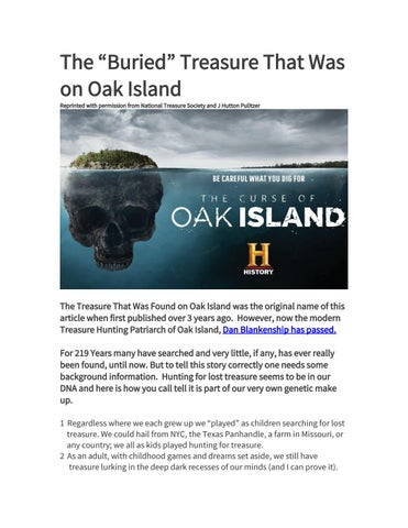 "The ""Buried"" Treasure That Was on Oak Island by SeoZahid - issuu"