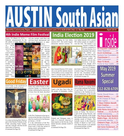 Austin South Asian  April 2019 by Austin South Asian - issuu