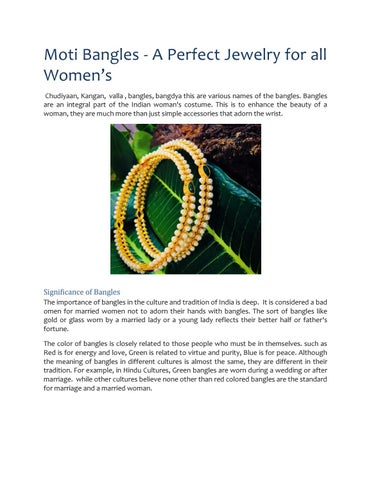Moti Bangles - A Perfect Jewelry for all Women's by sonchafa