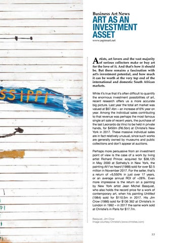 Page 77 of Art Auction News: Aspire: Art as an Investment Asset