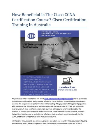 Microsoft Certification Courses Melbourne by vit edu - issuu