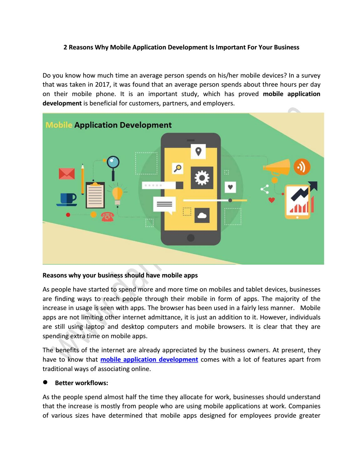2 Reasons Why Mobile Application Development Is Important