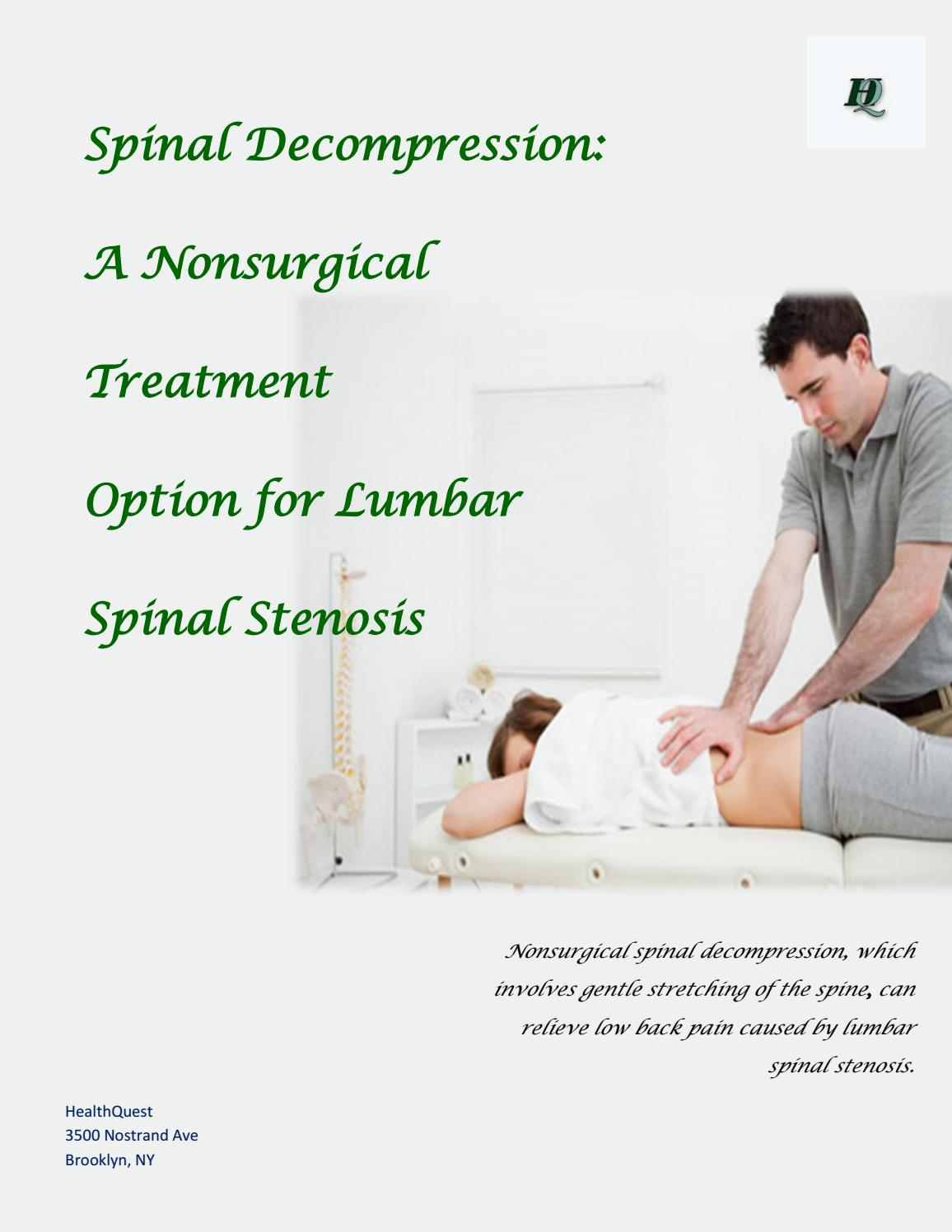 Spinal Decompression: A Nonsurgical Treatment Option for