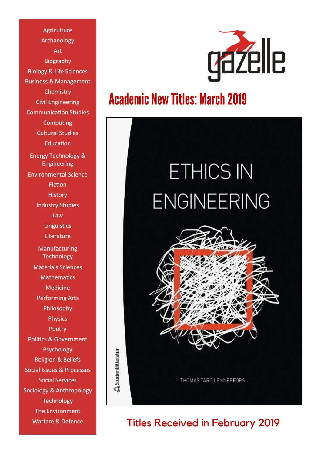 GAZELLE_ACADEMIC_March 2019 - New Titles by SCIENTIFIC BOOKS