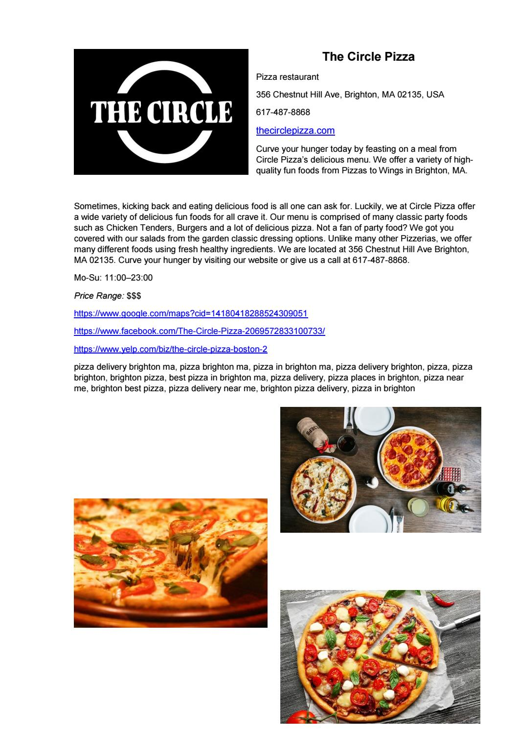 The Circle Pizza By The Circle Pizza Issuu
