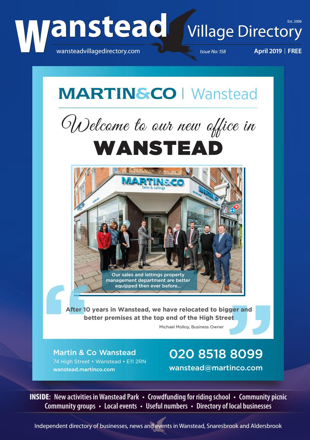 April 2019 by Wanstead Village Directory - issuu