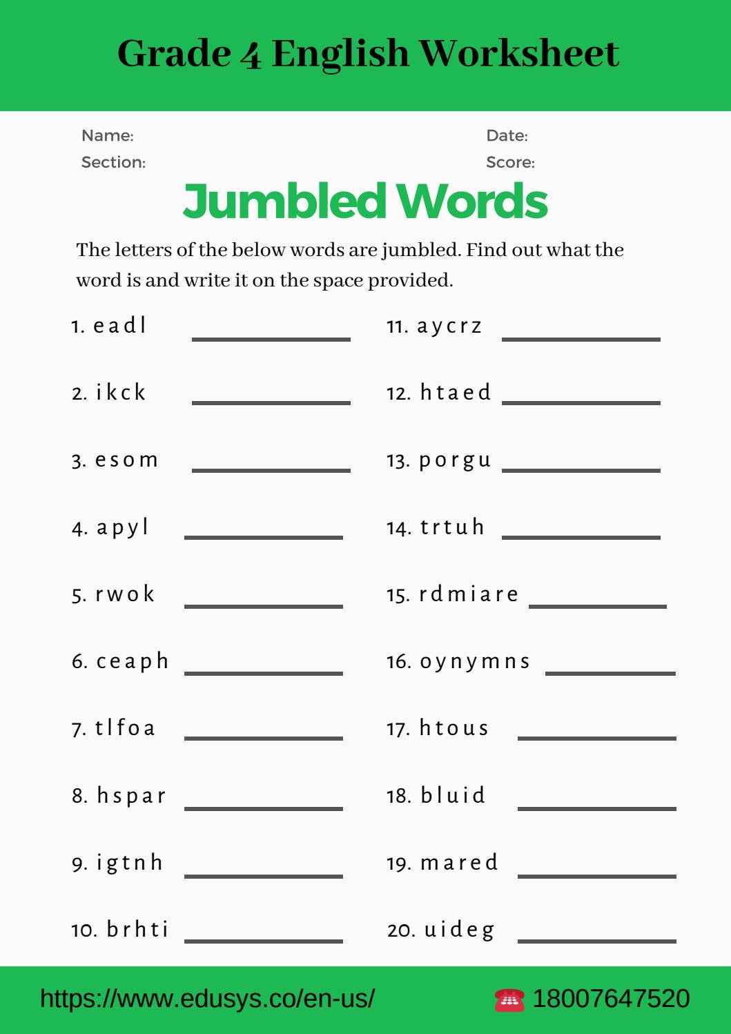 4th grade english vocabulary worksheet pdf by nithya - issuu