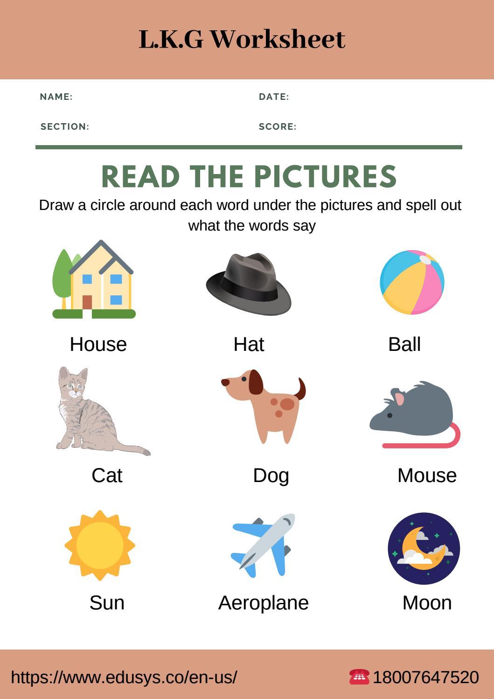Lower kindergarten english worksheet free pdf 2019 by ...