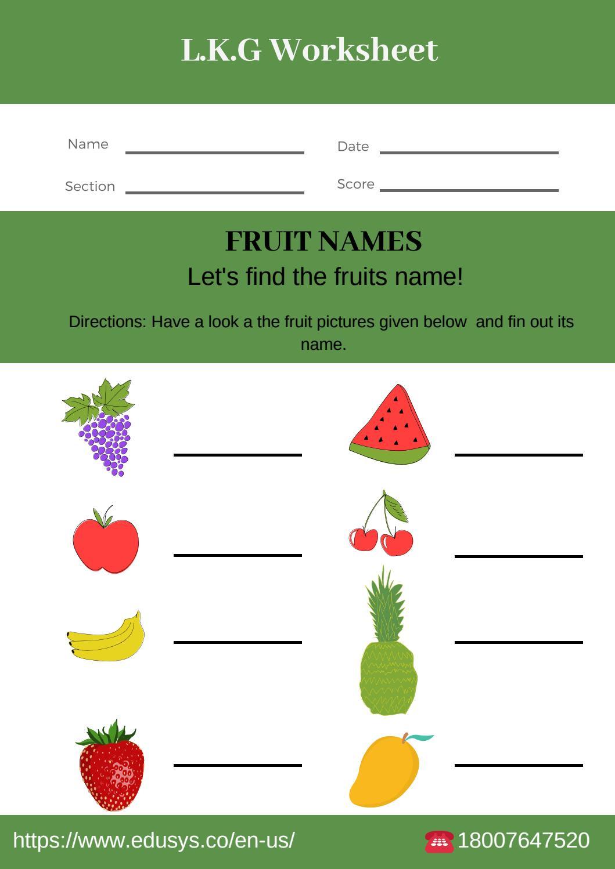 free pdf Kindergarten english worksheets writing by nithya ...