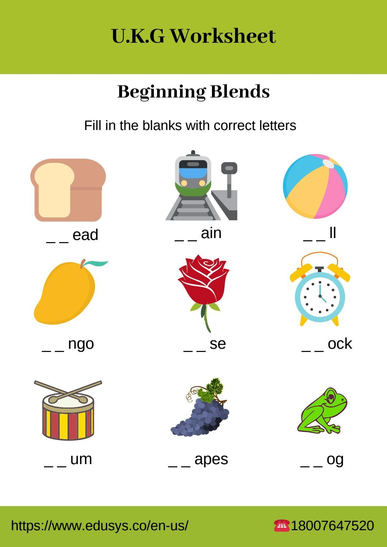 Kindergarten English Vocabulary Worksheet By Nithya Issuu