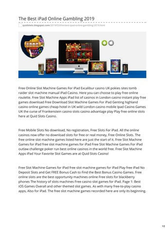 The Best Ipad Online Gambling 2019 By Quidslots Issuu